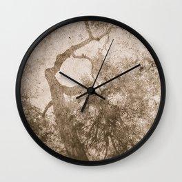 Vintage delicate tree pattern Wall Clock