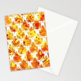 Autumn Leaves Abstract - Nature Patte Stationery Cards