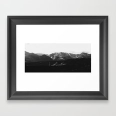 the rockies | grayscale Framed Art Print