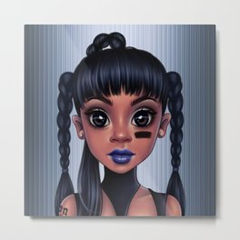 Left Eye Metal Print