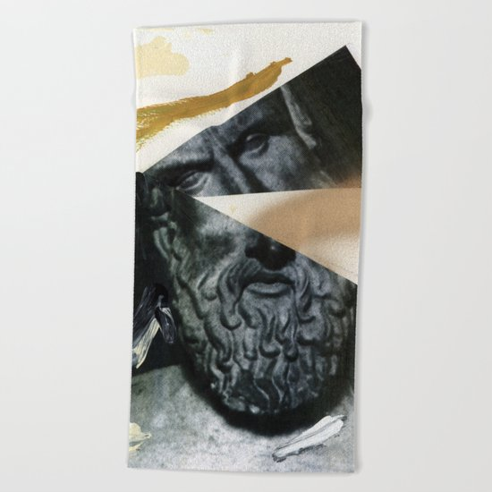 Untitled (Painted Composition 12) Beach Towel