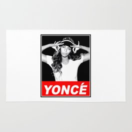 beyonce.yonce obey style Rug