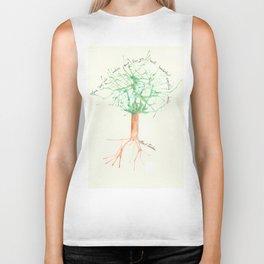 Organic Watercolor Tree with Einstein Quote Biker Tank