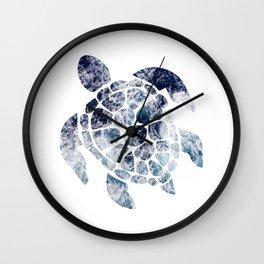 Sea Turtle - Blue Ocean Waves Wall Clock