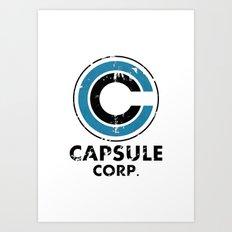 Capsule Corp Vintage bright Art Print