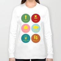 wes anderson Long Sleeve T-shirts featuring Wes Anderson by Chay Lazaro