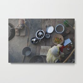 Learning to Cook from Above Metal Print
