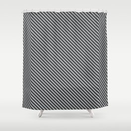 Dark Shadow Stripe Shower Curtain