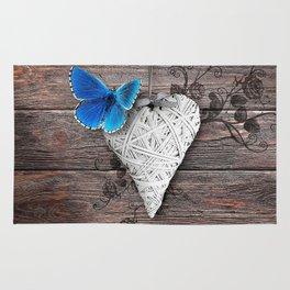 Heart & butterfly | coeur et papillon Rug