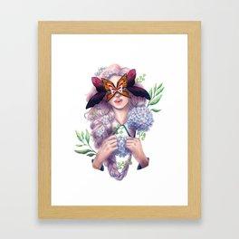 The Butterfly Mask Framed Art Print