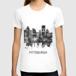 Pittsburgh Pennsylvania Skyline BW T-shirt