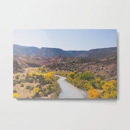 Rio Chama River New Mexico Landscape Metal Print