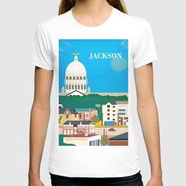 Jackson, Mississippi - Skyline Illustration by Loose Petals T-shirt