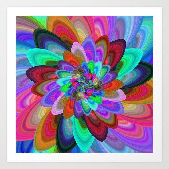 Crazy flower Art Print