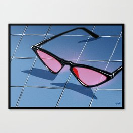 SOUTH BEACH sunglasses Canvas Print
