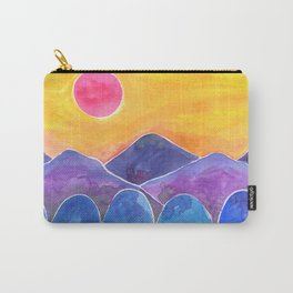 The Hills Are Alive Yellow Sky Pink Sun Carry-All Pouch