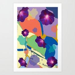 Morning Glory Collage Art Print