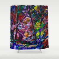 crystal Shower Curtains featuring Crystal by Stephen Linhart