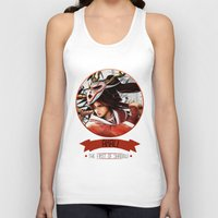 league of legends Tank Tops featuring League Of Legends - Akali by TheDrawingDuo