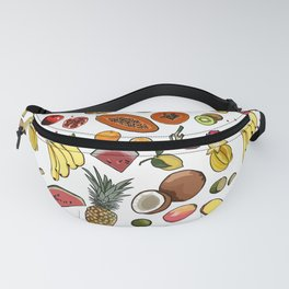 Tropical fruit repeat pattern Fanny Pack