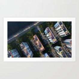 sea, trail, apartment Art Print