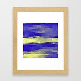 Sun Rays, Wind and Cobalt Sky Abstract Framed Art Print