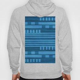 Art Deco Geometric Pattern Blue Hoody