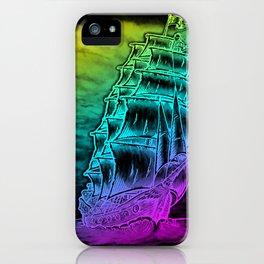 Caleuche Ghost Pirate Ship - Color iPhone Case