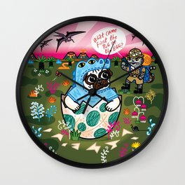 What Came First The Pug Or The Egg? Wall Clock