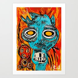 Blue Devil Art Print