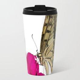Swallowtail Butterfly On Bougainvillea Travel Mug