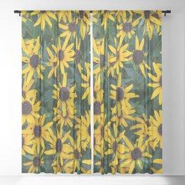 Black-Eyed Susan Cluster Sheer Curtain