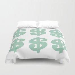 Mint Dollars Duvet Cover