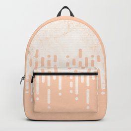 Marble and Geometric Diamond Drips, in Peach Backpack