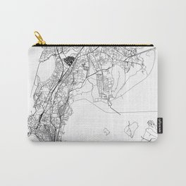 Mumbai White Map Carry-All Pouch