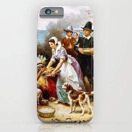 The First Thanksgiving 1621 By Jean Leon Gerome Ferris iPhone Case