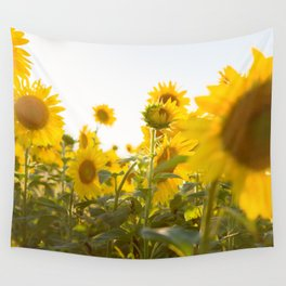 Sunflower Field Wall Tapestry