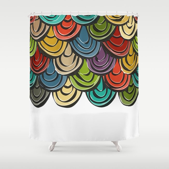 Scallop Scales Shower Curtain