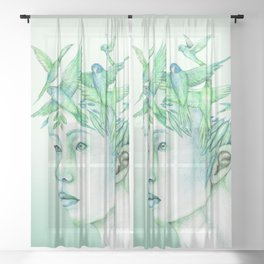 The free thoughts Sheer Curtain