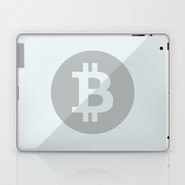Bitcoin Silver Coin Laptop & iPad Skin