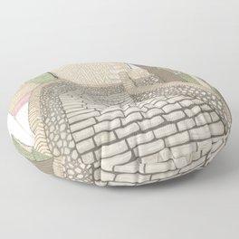 """""""LA PUENTE"""" de Alcañizo Floor Pillow"""
