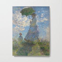 Claude Monet - Woman with a Parasol Metal Print