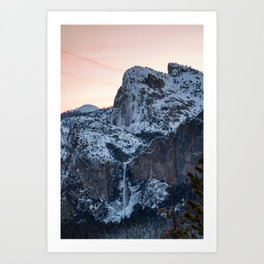 Yosemite Bridal Veil Falls Sunrise Art Print