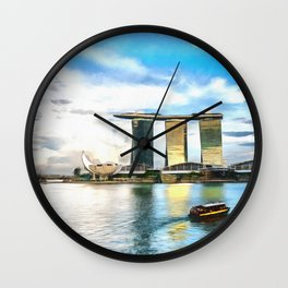 Hotel Marina Bay Sands and ArtScience Museum, Singapore Wall Clock