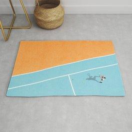 Tennis Court Colors  Rug