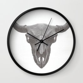 American Bison Skull Wall Clock