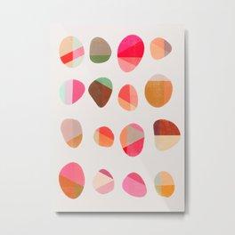 Painted Pebbles 5 Metal Print