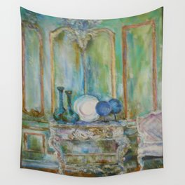 Blue Interior by Marianne Fadden Wall Tapestry