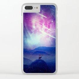 Majestic Cosmic Guardian Clear iPhone Case