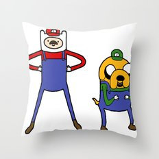 Super Adventure World Throw Pillow